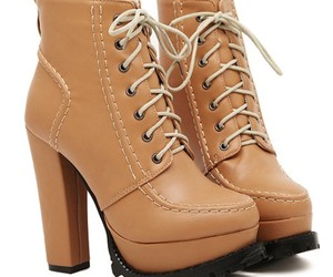 lace up, short boots, and pointed toe image
