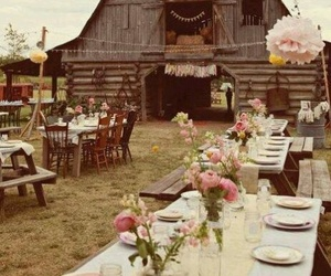 wedding, barn, and country image