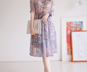 cute dress, asian style, and dress image