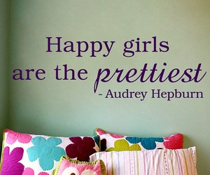 happy, girl, and quote image