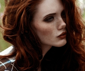 red hair, beauty, and hair image