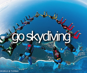 skydiving, sky, and cool image
