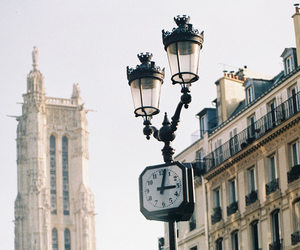 vintage, city, and clock image