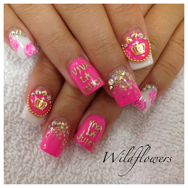 Juicy Couture Nails shared by Laura Nordström