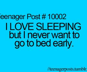 sleep, sleeping, and bed image