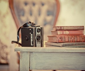 book, vintage, and camera image