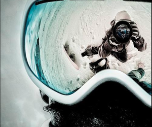 snow, winter, and snowboard image