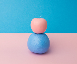 pink, blue, and apple image