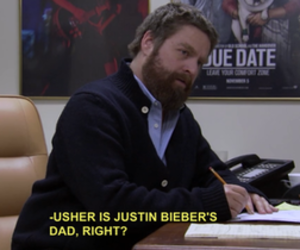 funny, usher, and justin bieber image