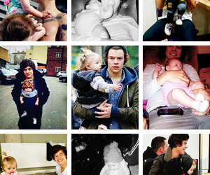 niall horan, zayn malik, and baby lux image