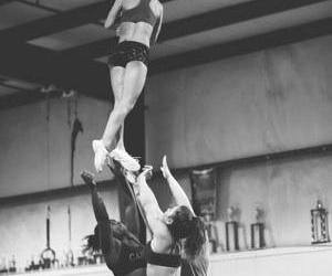 cheer, cheerleader, and fly image