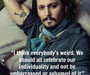 johnny depp, personality, and quote image