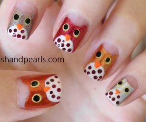 nails, owl, and cute image