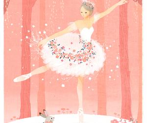ballerina, art, and pink image
