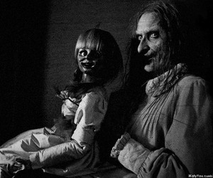 black & white, horror, and fear image