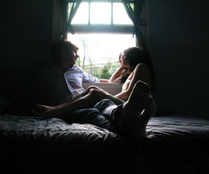 abrazo, bed, and cuddle image