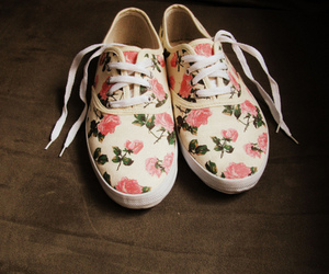 shoes, flowers, and floral image