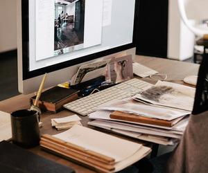study, apple, and work image