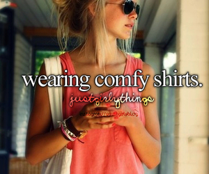 shirt, just girly things, and comfy image