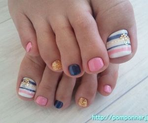 fashion, feet, and nails nail art image