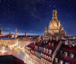 night, city, and germany image