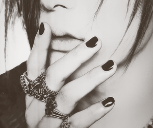 the gazette, uruha, and black nails. image