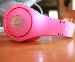 pink, beats, and girly image
