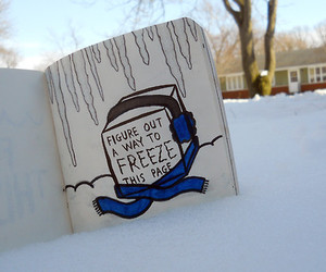 tumblr, winter, and wreck this journal image