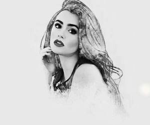 art and lily collins image