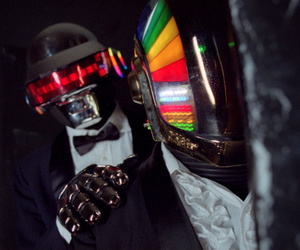 daft punk, helmets, and house image
