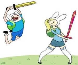 adventure time, finn, and fionna image