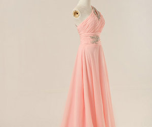 evening dress, fashion, and pink image