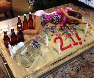 barbie, cake, and 21 image
