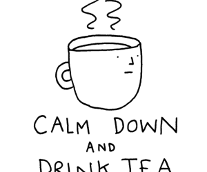 tea, quotes, and calm image