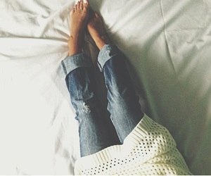 cozy, girl, and jeans image