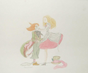 alice in wonderland, art, and watercolour image