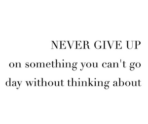 quote, love, and never give up image