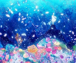 anime, ocean, and underwater image