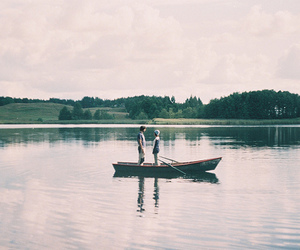 couple, boy, and boat image