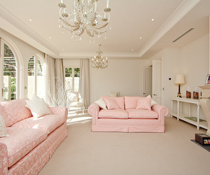 room, pink, and house image