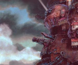 anime, howls moving castle, and studio ghibli image