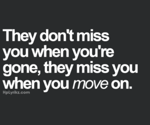 quote, move on, and gone image