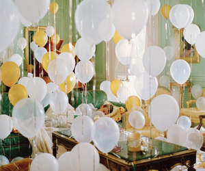 balloons, sleep, and white image