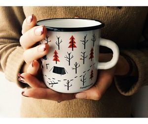 autumn, cup, and forest image