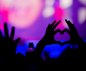 love, heart, and concert image