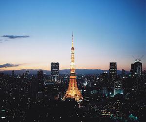 night, tokyo, and tokyo tower image