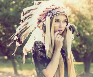 blonde and feathers image