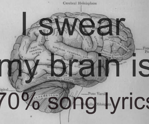 brain, funny, and music image