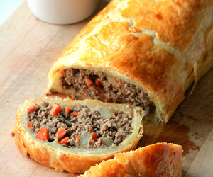 beef, pie, and puff pastry image