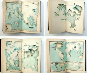 map, book, and art image